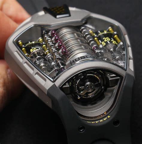 Hublot, swiss watch brand, representing the art of fusion in watches. Hublot MP-05 LaFerrari Ferrari Titanium Yellow Watch Hands-On | aBlogtoWatch