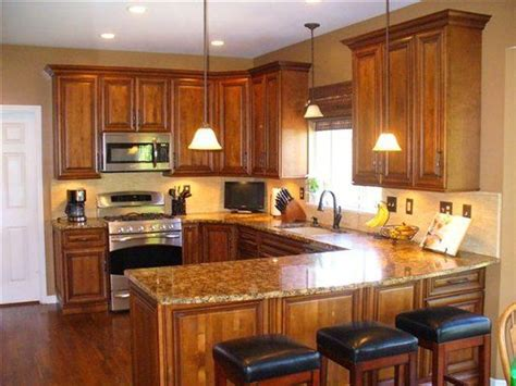 Cherry Cabinets With Granite Countertops   Burnished