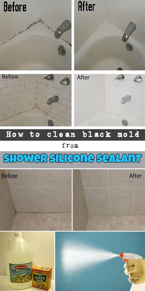 clean black mold  shower silicone sealant