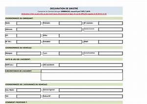 Declaration De Sinistre Auto : calam o formulaire de declaration de sinistre auto aps ~ Gottalentnigeria.com Avis de Voitures