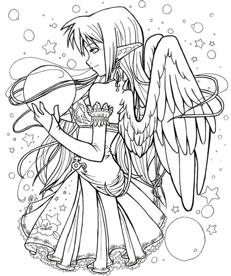 anime girl coloring pages  teenagers coloringstar
