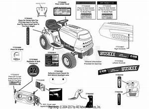 Mtd 13w2775s031 Lt4200   2013  Parts Diagram For Label Map
