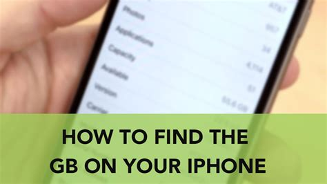 how to find your iphone how to find the gb on your iphone