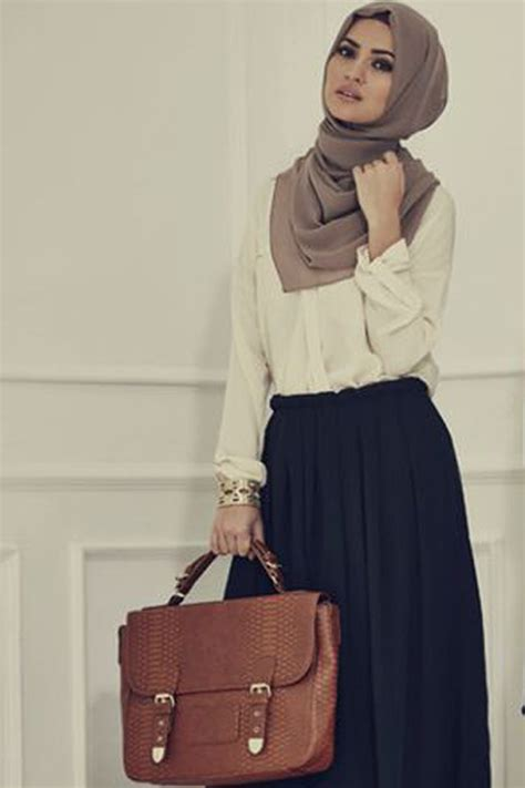 Hijab Fashion How to Wear Skirts for Hijab Winter Workwear