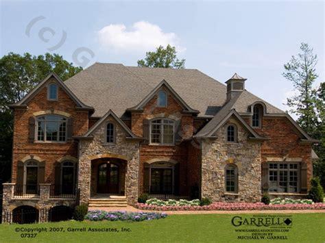 brick stone exteriors homes brick  stone house plans