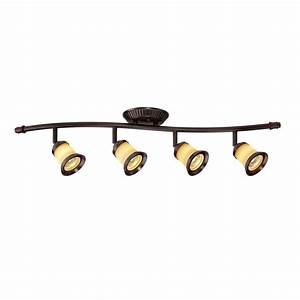 Hampton bay light antique bronze directional led track