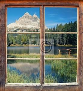 Blick Aus Dem Fenster Poster : fototapete blick aus dem fenster drei zinnen schau ~ Markanthonyermac.com Haus und Dekorationen