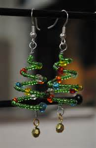hypoallergenic jewelry christmas tree earrings beaded jewelry