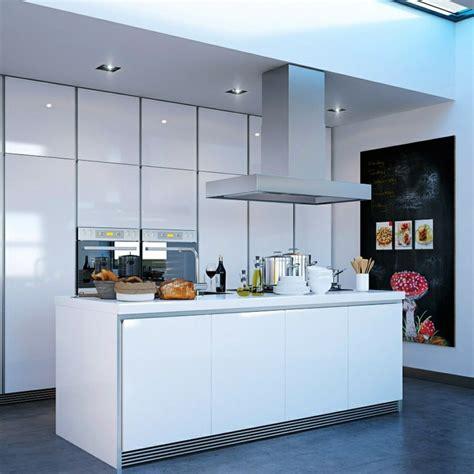 modele de cuisine moderne avec ilot 50 idées d 39 îlot central cuisine blanc de design moderne