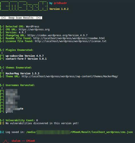 scan detection cms exploitation suite v1 result drupal joomla cmss