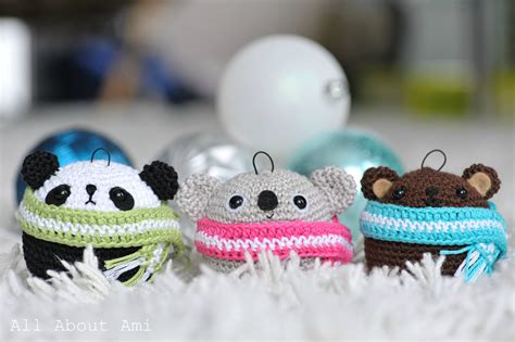 amigurumi teddy ornaments all about ami