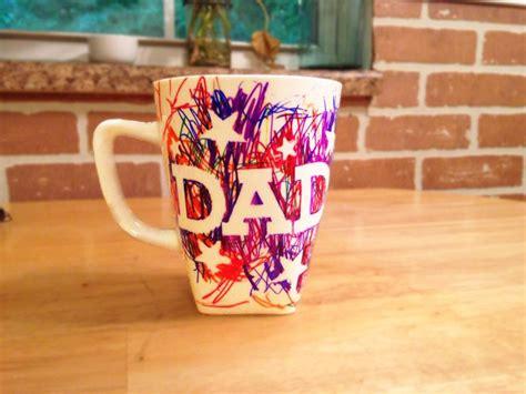 easy fathers day sharpie mug kids craft craft ideas