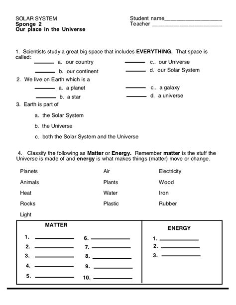 solar system worksheets for 3rd grade page 2 pics