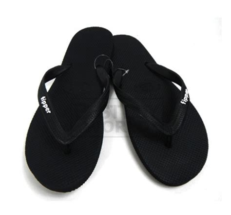 fipper eco friendly sandals slick black black buyma