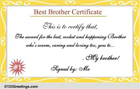 brother certificate  brother ecards