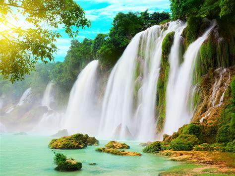 ba  lake ban gioc waterfall north hanoi desktop
