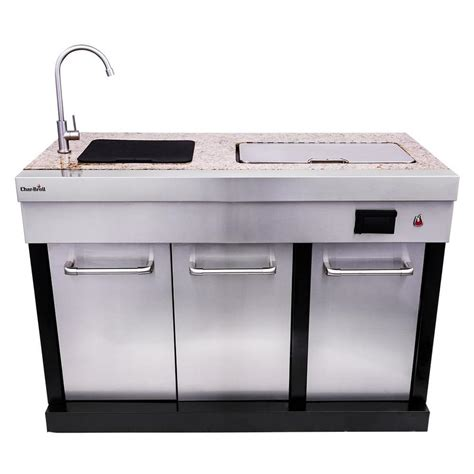 outdoor grill with sink shop char broil modular outdoor kitchen modular drop in