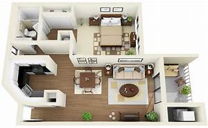 1 bedroom apartment house plans With single bedroom apartments a studio with functional purposes