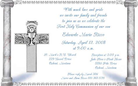communion invitation templates holy communion invitations template best template collection