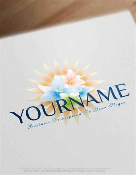 exclusive design lotus flowers logo  business card