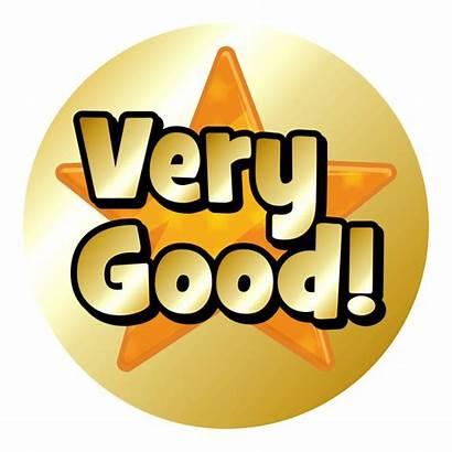 Star Very Stickers Clipart Praise Gold Metallic