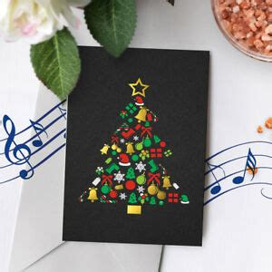 120s holiday musical gold foil card merry christmas musical greeting card 00001 ebay