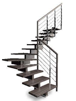 escalier suspendu bois quart tournant calcul 224 carhaix plouguer 29 re d escalier a vendre