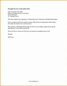 10 how to write a 2 weeks notice example lease template With written notice letter template