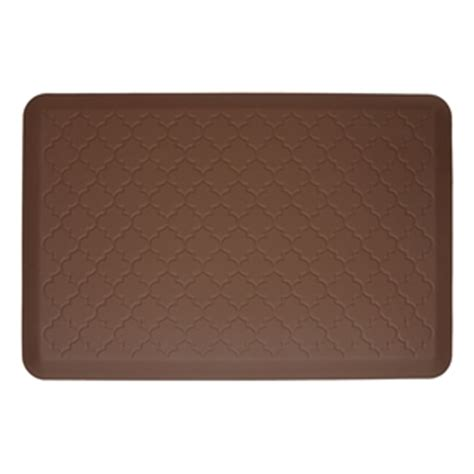 Decorative Cushioned Kitchen Floor Mats by Wellnessmats Cushioned Kitchen Floor Mat Brown Trellis