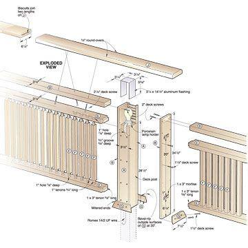deck railing  built  lighting woodworking plan
