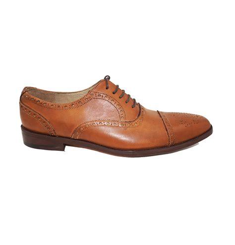 mens light brown oxfords light tan brown brogue cap toe oxford formal leather dress