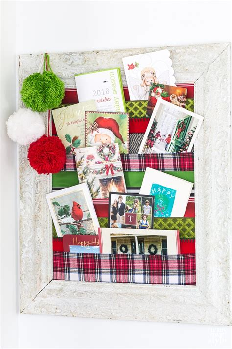 how to make christmas card holders wall chrismast cards