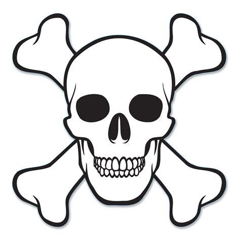 pirate skull crossbones jolly roger cardboard cutout