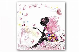 Tableau enfant fee nature 50x50 cm tableaux enfants pas cher for Déco chambre bébé pas cher avec robe noire fleurie zara