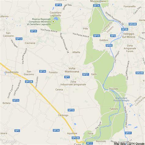 Mappa Volta Mantovana Foto Dall Alto Delle Strade Comune Di Volta Mantovana