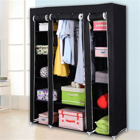 heavy duty  portable closet wardrobe clothes rack