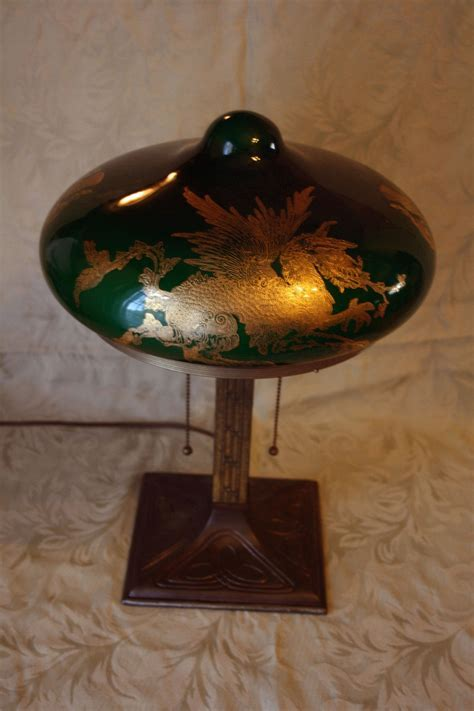Bradley and Hubbard Lamp with Griffin shade   Collectors