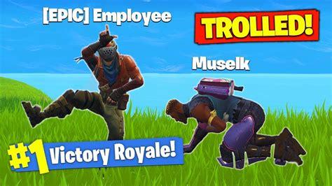 trolled  epic games  fortnite battle royale youtube