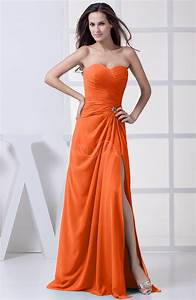 tangerine modest a line sweetheart chiffon floor length With tangerine dresses for wedding