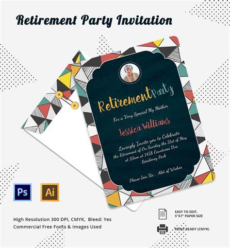 retirement party invitation template invitation template 31 free psd vector eps ai format free premium templates