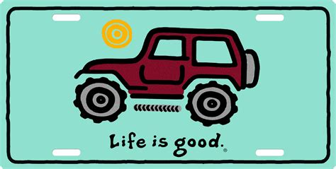 life  good jeep license plate license plate license