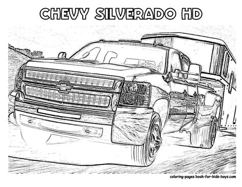 Chevy Duramax Coloring Pages Mungfali