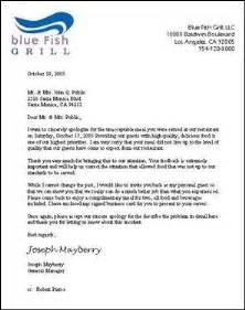 post restaurant plaint letter sample
