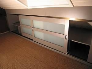 meuble rangement sous comble dootdadoocom idees de With meubles pour sous combles