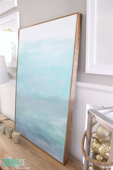 How To Frame A Canvas (for Cheap!)  The Turquoise Home