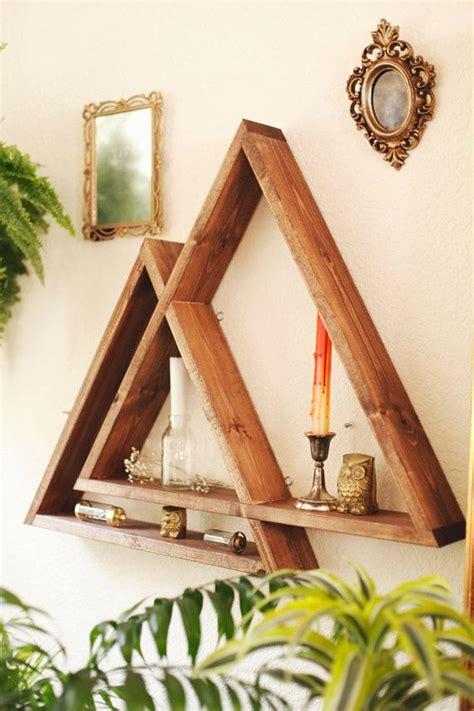 wooden triangle shelves   modern  contemporary