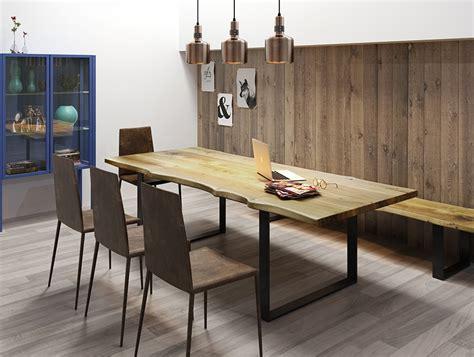 table bois massif table a manger en chene massif avec pietement u collection nuxe wood mobilier achat
