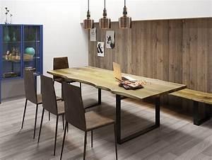 table a manger en chene massif avec pietement u collection With meuble salle À manger avec acheter table a manger
