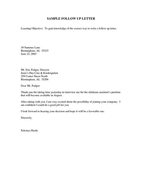 Follow Up Letter Template by Sle Follow Up Email After Business Advice And Craft