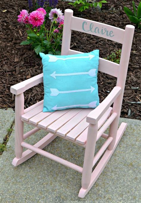 child s rocking chair with folkart milk paint latta